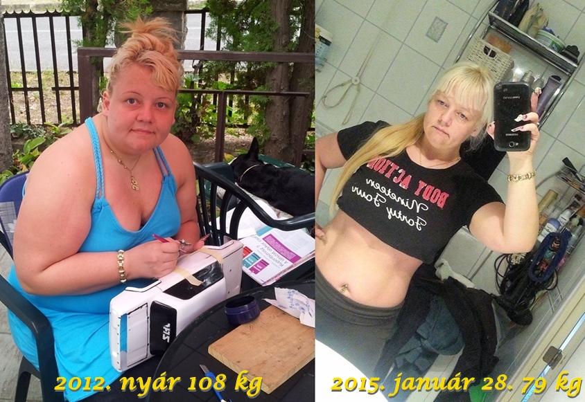 90– 80 kg súlycsökkenés
