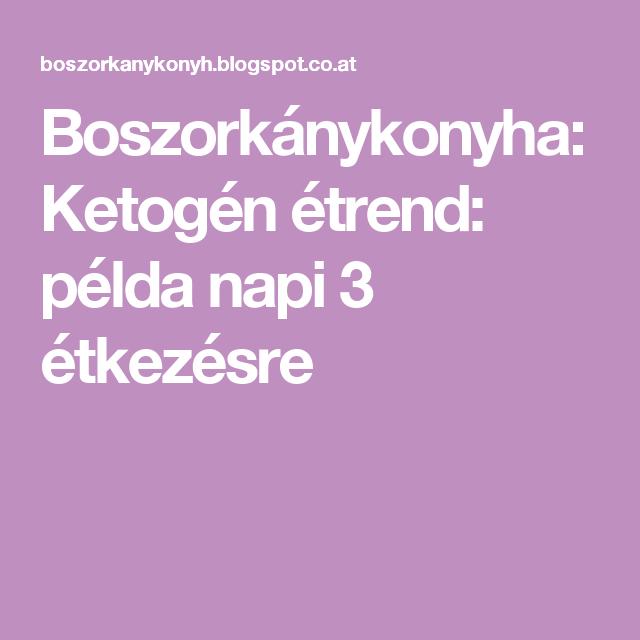 Ketogén mintaétrend - romance-tv.hu